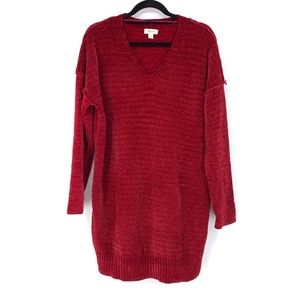 Style & Co L Tunic Chenille Sweater Lace Up Side
